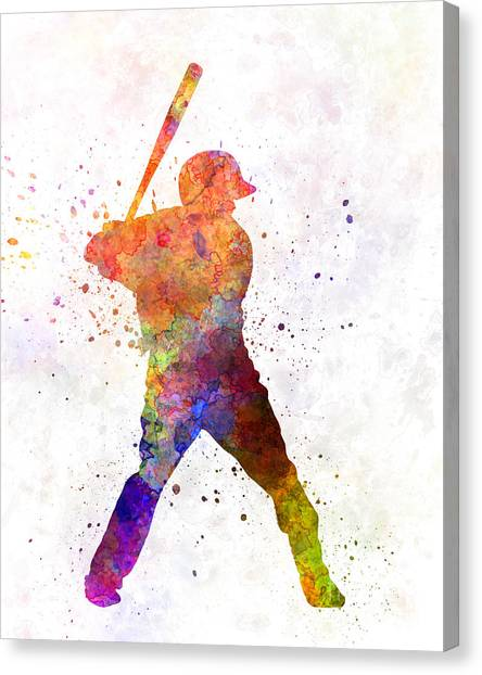 Baseball Players Canvas Print - Baseball Player Waiting For A Ball by Pablo Romero