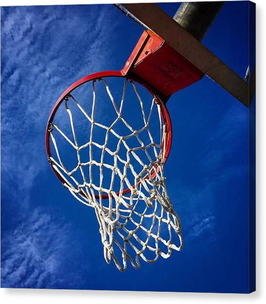 Basketball Canvas Print - Basketball Hoop #juansilvaphotos by Juan Silva