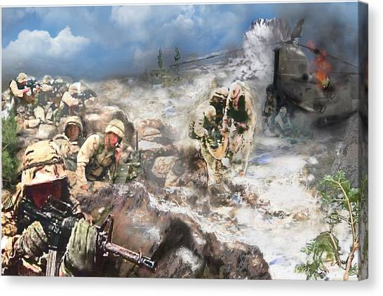 Todd Krasovetz Canvas Print - Battle At Roberts Ridge by Todd Krasovetz