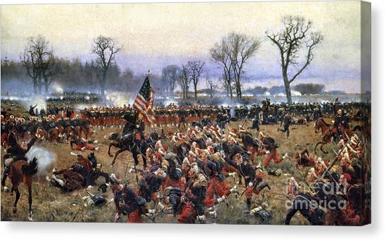 Canvas Print - Battle Of Fredericksburg - To License For Professional Use Visit Granger.com by Granger