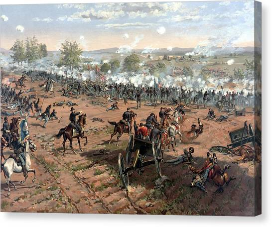 History Canvas Print - Battle Of Gettysburg by War Is Hell Store