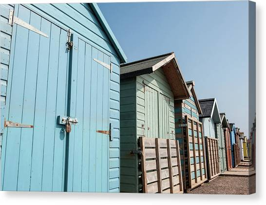 Beach Huts Vi Canvas Print