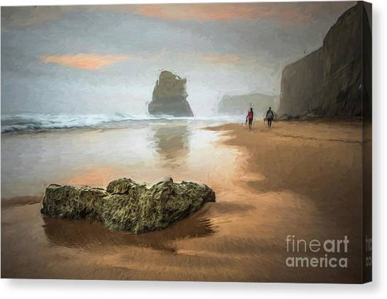 Beach Stroll Canvas Print