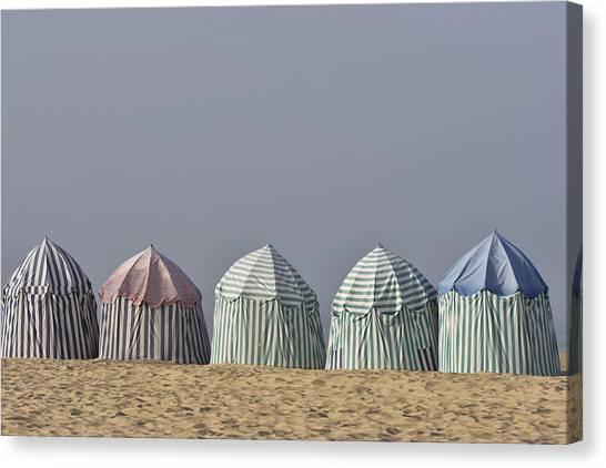 Beach Tents Canvas Print