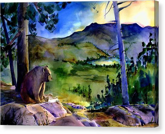 Bearly Light At Castle Peak Canvas Print
