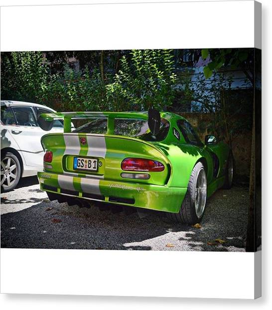 Vipers Canvas Print - Beautiful Spec  #dodge #viper by Sportscars OfBelgium