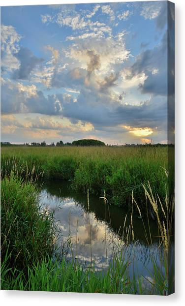 Prairie Sunrises Canvas Print - Beautiful Sunrise In Glacial Park by Ray Mathis