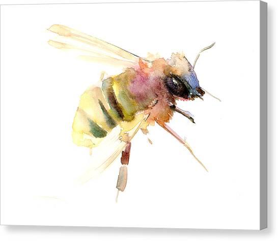 Spring Canvas Print - Bee by Suren Nersisyan