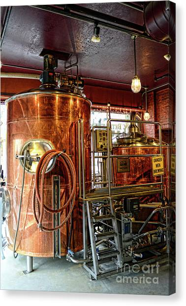 Craft Beer Canvas Print - Beer  The Brew Kettle by Paul Ward