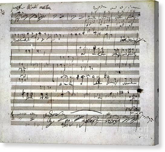 Beethoven Manuscript Canvas Print