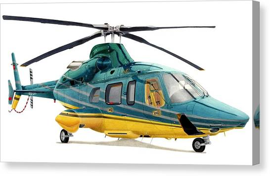 Helicopter Canvas Print - Bell 430 by Lyle Brown