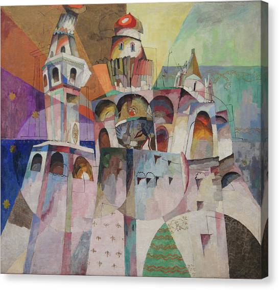 Bellringing. Ivan The Great Bell-tower. Canvas Print by Aristarkh Lentulov