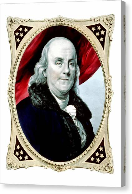 Revolutionary War Canvas Print - Ben Franklin - Two by War Is Hell Store