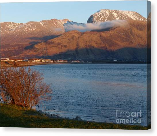 Ben Nevis From Corpach Canvas Print by Phil Banks