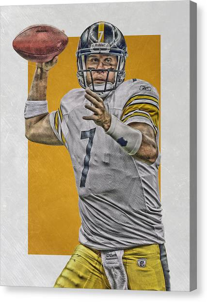 Ben Roethlisberger Canvas Print - Ben Roethlisberger Pittsburgh Steelers Art by Joe Hamilton