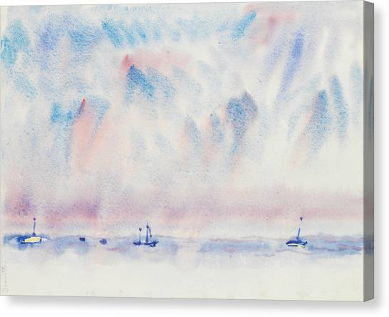 Precisionism Canvas Print - Bermuda Sky And Sea With Boats by Charles Demuth