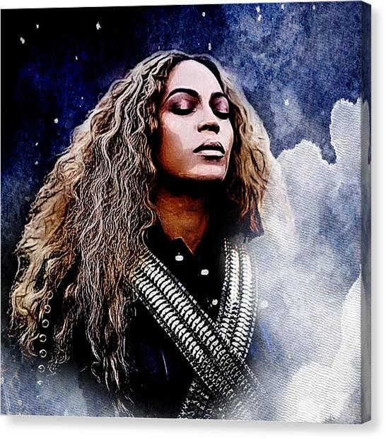 Jay Z Canvas Print - Beyonce  by The DigArtisT