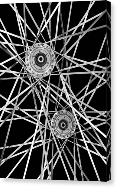 Bicycle Hubs And Spokes Canvas Print
