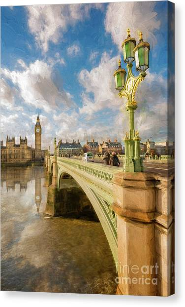 Palace Of Westminster Canvas Print - Big Ben London by Adrian Evans