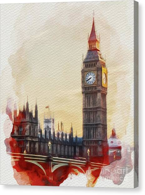 Parliament Canvas Print - Big Ben, London by John Springfield