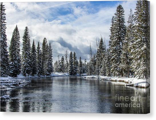 Big Springs In Winter Idaho Journey Landscape Photography By Kaylyn Franks Canvas Print