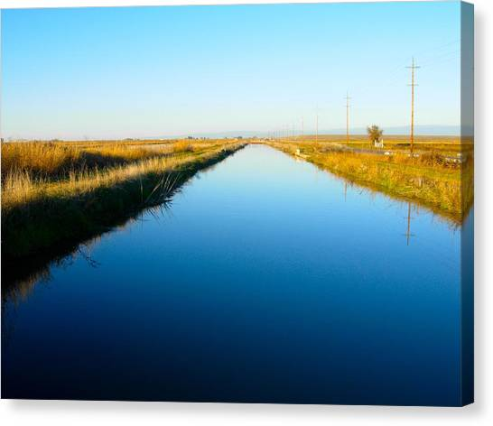 Biggs Canal Canvas Print