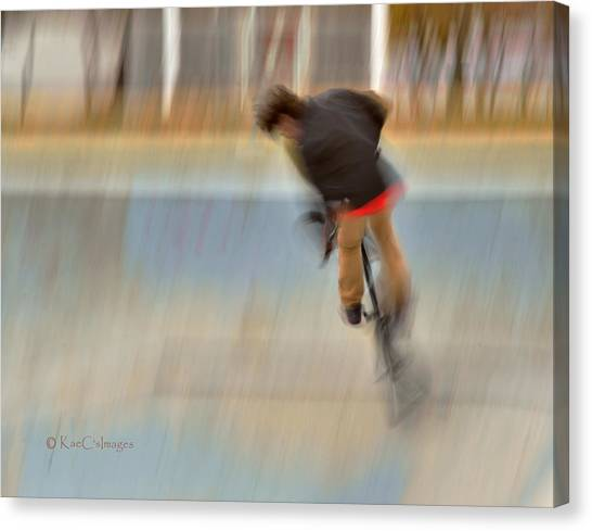 Biking  The Skateboard Park 4 Canvas Print