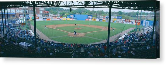 Pitching Canvas Print - Bill Meyer Stadium, Aa Southern League by Panoramic Images