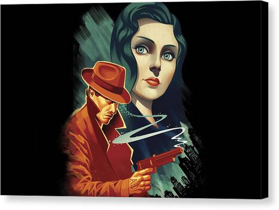 Bioshock Canvas Print - Bioshock Infinite Burial At Sea by Super Lovely