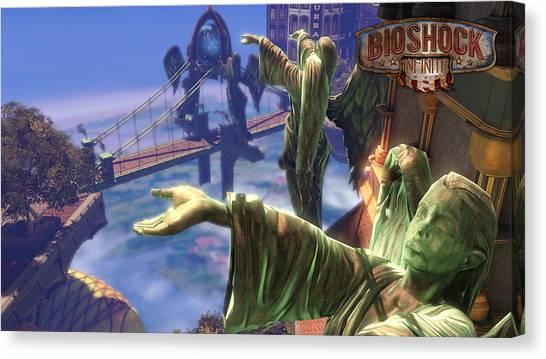 Bioshock Canvas Print - Bioshock Infinite by Meggi Andrew