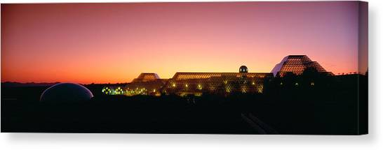 Hothouses Canvas Print - Biosphere 2 At Sunset, Arizona by Panoramic Images