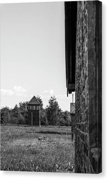 Holocaust Museum Canvas Print - Birkenau by Angela Aird