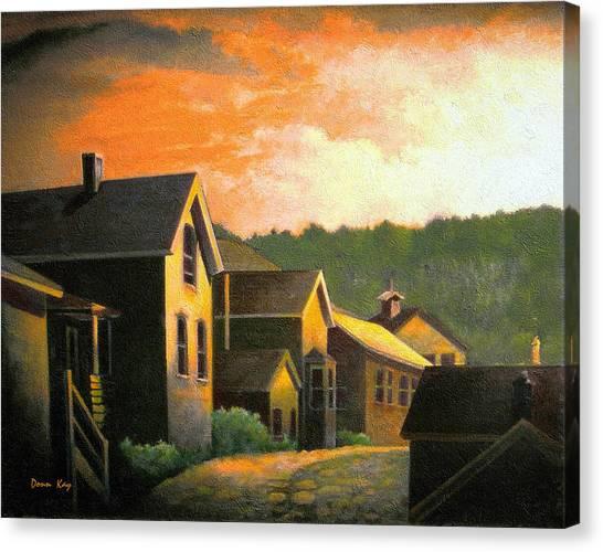 Blackhawk  Colorado Sunset Canvas Print by Donn Kay