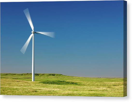 Wind Farms Canvas Print - Blades In The Sky by Todd Klassy