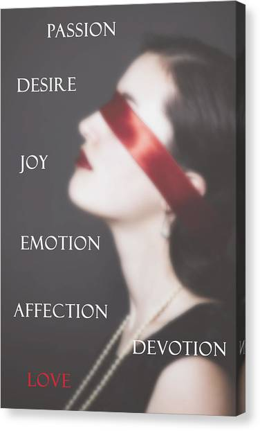 Thoughful Canvas Print - Love - Passion - Desire by Joana Kruse