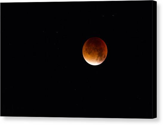 Blood Moon Super Moon 2015 Canvas Print