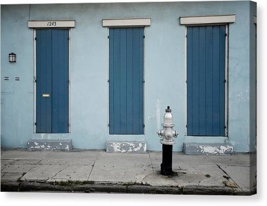 Blue And Silver At 1243 Canvas Print