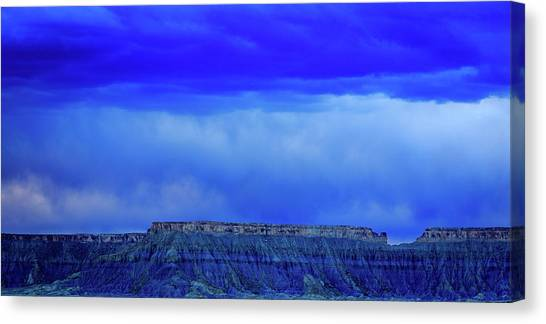 Blue Badlands Canvas Print