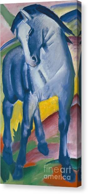 Fluids Canvas Print - Blue Horse by Franz Marc