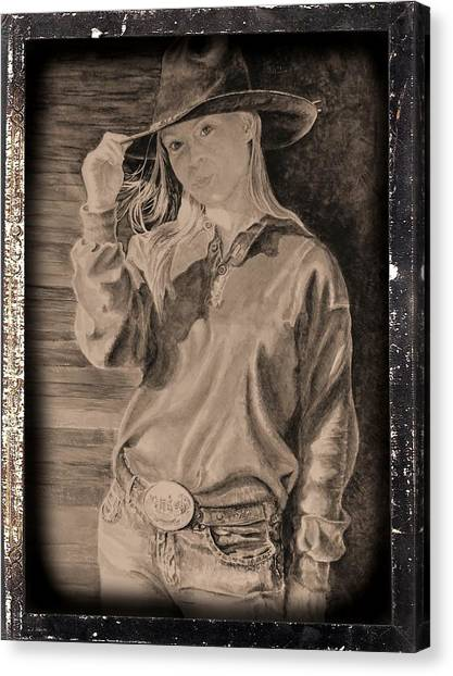Ranch Dressing Canvas Print - Blue Jean Cowgirl by Traci Goebel