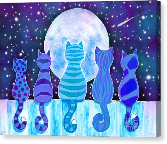 Canvas Print - Blue Moon Cats by Nick Gustafson