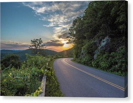 Blue Ridge Parkway Morning Sun Canvas Print