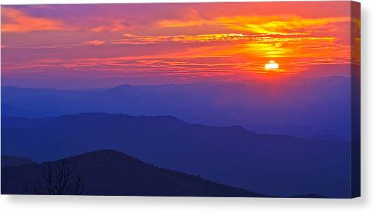 Blue Ridge Parkway Sunset, Va Canvas Print