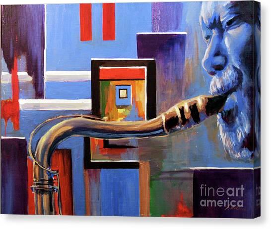 Blue Spaces Canvas Print