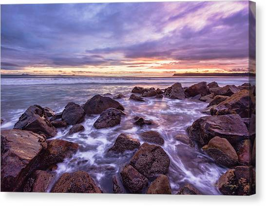 Blueberry Sea Canvas Print