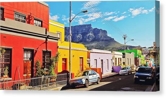 Cape Town Canvas Print - Bo-kaap Malayan Quarter by Benjamin Matthijs
