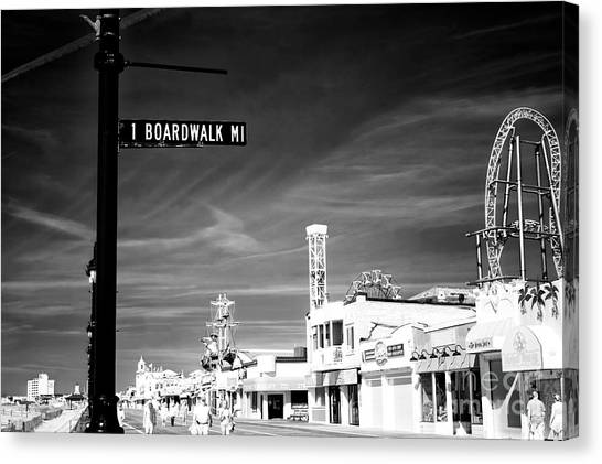 1 Boardwalk Mile At Ocean City Infrared Canvas Print by John Rizzuto
