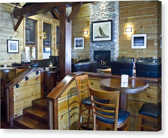 Boathouse Restaurant Canvas Print by Michael Rutland