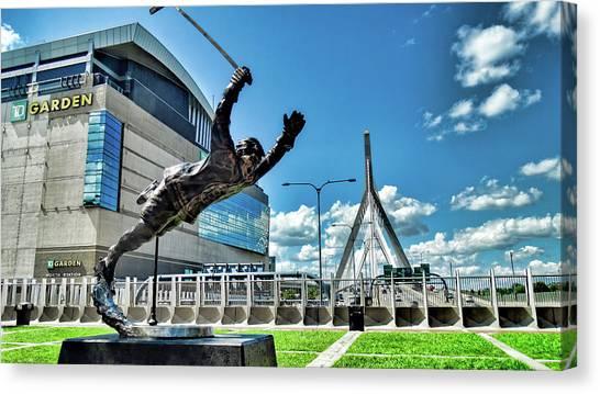 Bobby Orr Canvas Print - Bobby Orr Statue by Bill Dussault