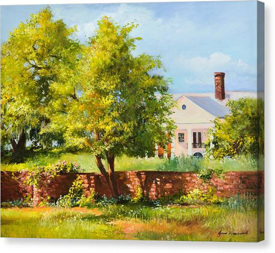 Boone Hall Plantation Canvas Print by Jane Woodward